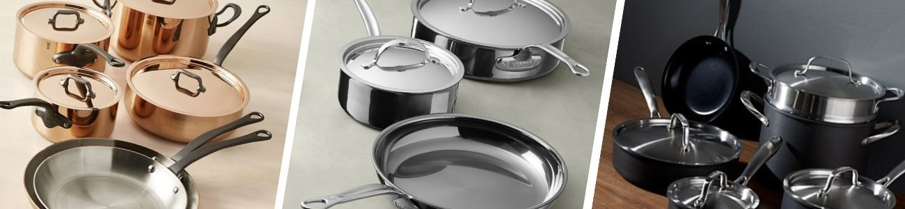 different types of cookware sets