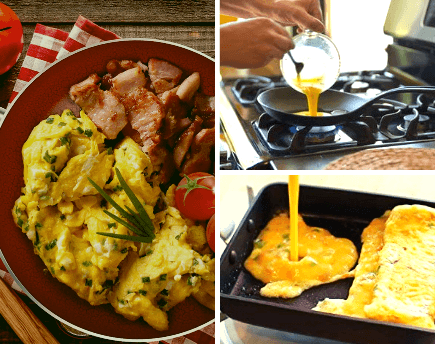 many types of omelette pans