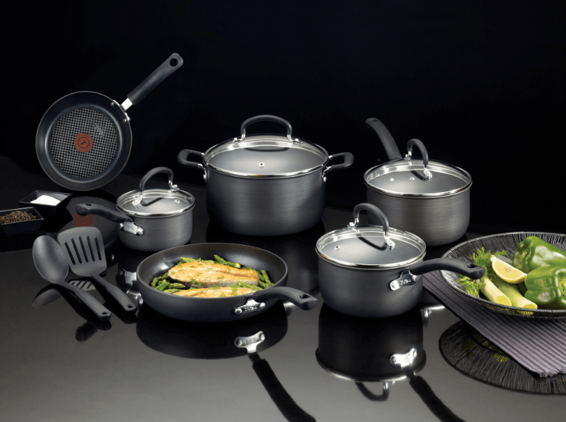a cookware set placed on a tabletop