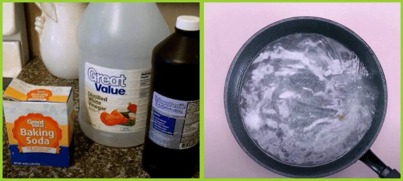 clean ceramic pan by using banking soda