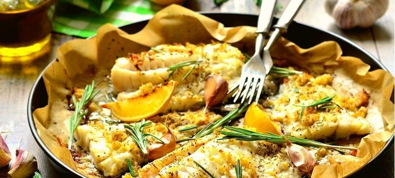 delicious baked cod with garlic