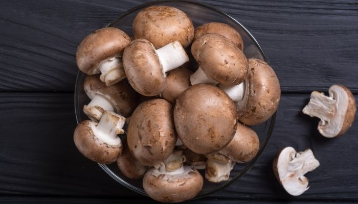 a bowl of mushrooms