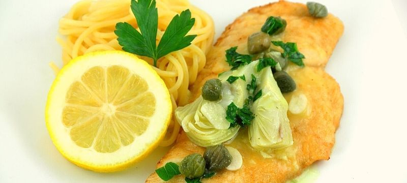 chicken piccata with noodles