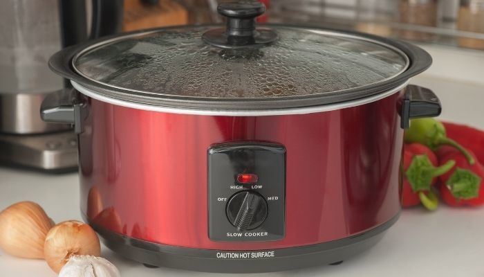 cooking soup in slow-cooker